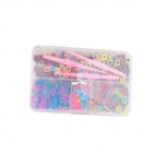 DIY Bracelet Rainbow Weaving Accessories Kit - Pink + Yellow + Multicolored