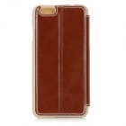 "Protective Flip-Open PU + PC Case w/ Stand for IPHONE 6 4.7"" - Brown"