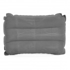 Outdoor Camping Rectangle Flocked Air Inflatable Cushion Pillow - Grey