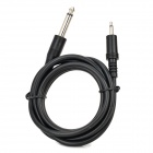 3.5mm Male to 6.35mm Male Audio Connection Cable - Black (1.5m)
