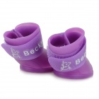 Anti-slip Rain Shoes for Pet Dog / Cat - Purple (Size M / 4 PCS)