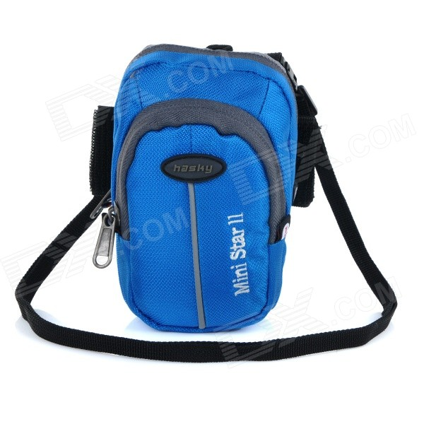 hasky-cy-05-outdoor-sports-climbing-nylon-messenger-arm-shoulder-bag-w-velcro-armband-blue