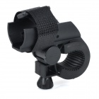 Front Handlebar Mounted Velcro Flashlight / Torch Holder Clamp for Bike Bicycle - Black