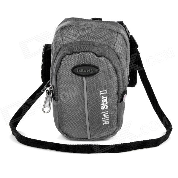hasky-cy-05-outdoor-sports-climbing-nylon-messenger-arm-shoulder-bag-w-velcro-armband-grey