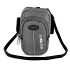 Hasky CY-05 Outdoor Sports Climbing Nylon Messenger Arm Shoulder Bag w/ Velcro Armband - Grey
