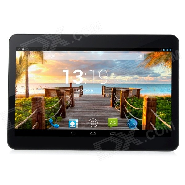 D101-HD 10.1 Android 4.4 Quad-Core Dual 3G Tablet PC w/ 2GB RAM, 16GB ROM - Black d101 hd 10 1 android 4 4 quad core dual 3g tablet pc w 2gb ram 16gb rom black