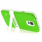 ENKAY Protective TPU Back Case w/ Stand for Samsung Galaxy S5 Mini G800 - Green