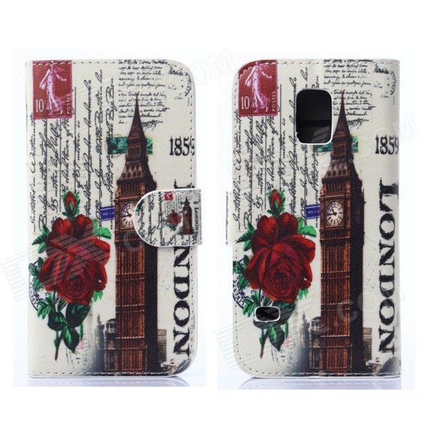 все цены на Hat-Prince The Big Ben Pattern Protective Case w/ Card Slots for Samsung Galaxy S5 Mini - Multicolor онлайн