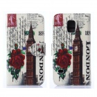 Hat-Prince The Big Ben Pattern Protective Case w/ Card Slots for Samsung Galaxy S5 Mini - Multicolor