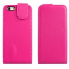 "DF-028 Protective Top Flip Open PU Leather + Plastic Case for IPHONE 6 4.7"" - Deep Pink"