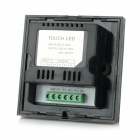 96W 2-CH Touch Panel Single Color LED Light Strip Dimmer Controller - Black + White (DC 12~24V)