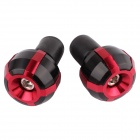 MZ Short Aluminum Alloy Motorcycle Handlebar Ends Caps / Plugs - Red + Black (2 PCS)