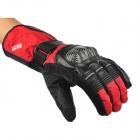 PRO-BIKER DXMS-08 Motorcycle Thickened Warm Water Resistant Racing Nylon Gloves - Red (Pair / L)