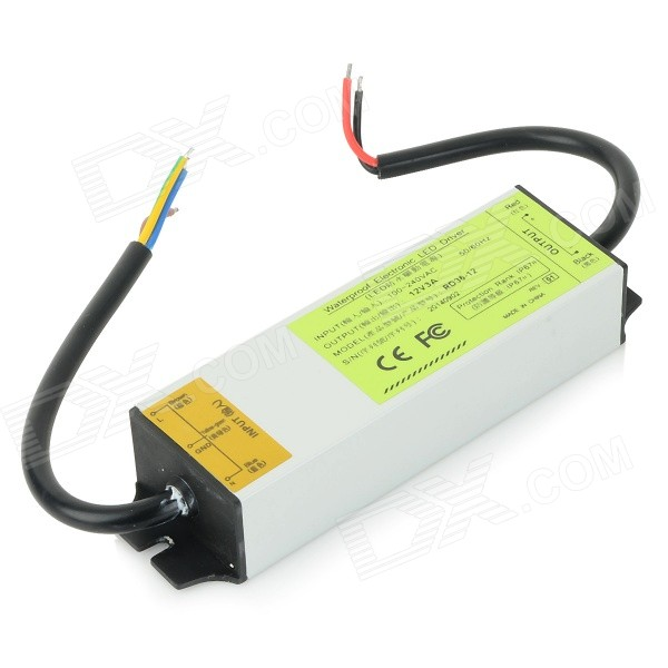 RD36-12 36W 3A Waterproof Electronic LED Driver for Light Strip - Silver led driver transformer power supply adapter ac110 260v to dc12v 24v 10w 100w waterproof electronic outdoor ip67 led strip lamp