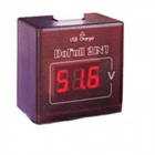 "HF 0.56"" Display Voltage Measuring + Cell Phone Charger w/ USB Port - Brown"