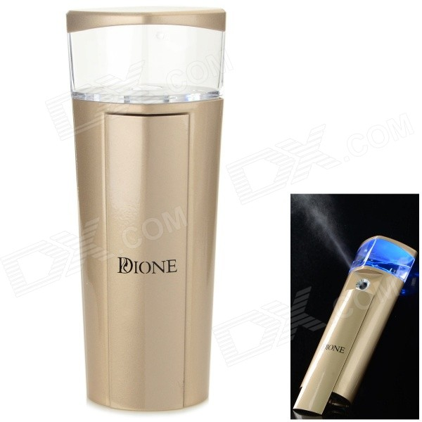 Dione D007 Portable USB Nano Moisturizing Facial Mist Spray Instrument - Golden