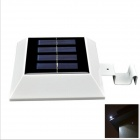 YouOKLight 0.3W 4-LED White Light Solar Power Panel Lamp for Garden Fence - White