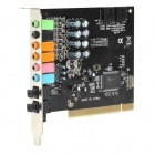Desktop PCI 7.1-Channel Optical Fiber Input / Output Independent Sound Card - Black