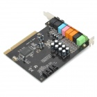 Desktop PCI 7.1-kanaals Optical Fiber Input / Output Independent Sound Card - Black