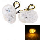 MZ 0.5W 120lm 15-LED Yellow Light Motorcycle Steering Lamp for Kawasaki - Transparent (2 PCS / 12V)