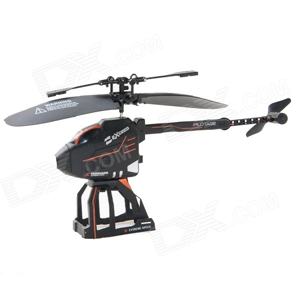 SmToys J083 2.5-Channel Folding Remote Control Deformation Helicopter - Black + Orange