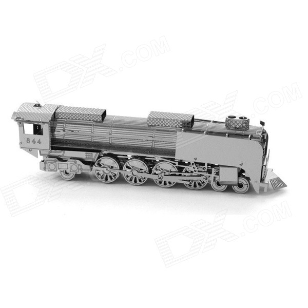 Steam locomotive Assembled Educational Toy for Kids / Children - Antique Silver + Black