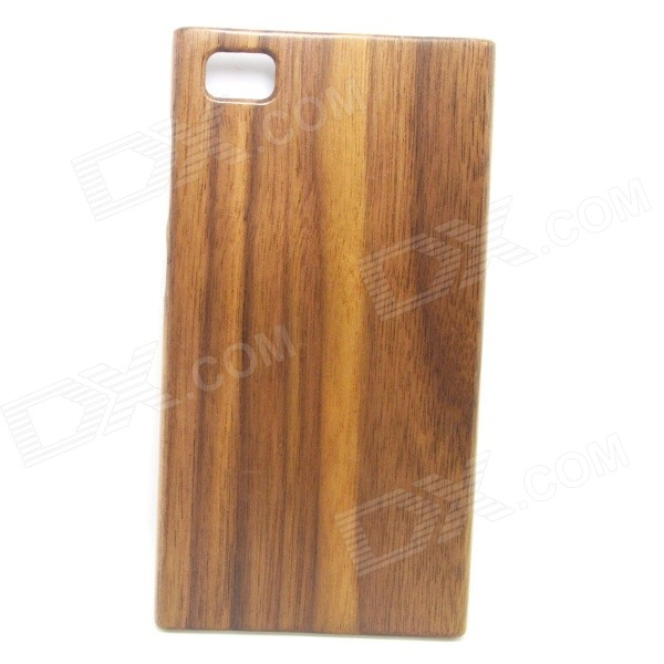 Retro Protective Walnut Wood Wooden Back Case for Xiaomi 3 - Brown + Black