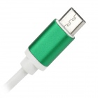 USB 2.0 Male to Micro USB Male Data Charging Cable for Samsung - Green + White (1m)