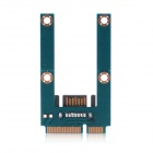 MPCE1ST-N02 Horizontal Type Mini SATA to SATA Adapter Card - Blue