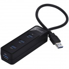 ORICO W5PH4-U3-BK Portable 4-Ports USB 3.0 HUB for Notebook / Desktop - Black
