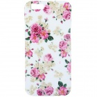 Buy Beautiful Flowers Style Pattern TPU Soft Back Case IPHONE 6 4.7 inch - White + Red Multi-Color