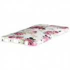 "Beautiful Flowers Style Pattern TPU Soft Back Case for IPHONE 6 4.7"" - White + Red + Multi-Color"