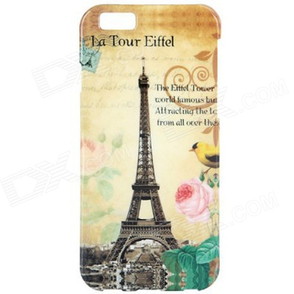 Retro Eiffel Tower Style Pattern TPU Soft Back Case for IPHONE 6 4.7 - Beige + Black + Multi-Color usams perfume style tpu back case for iphone 6 4 7 brown multi color