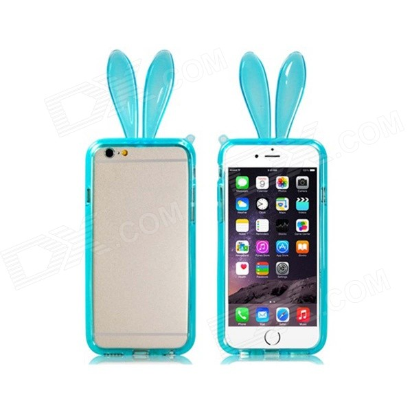 Cute Rabbit Ear Style Protective TPU Bumper Frame Case for IPHONE 6 4.7 - Blue kaka men large capacity oxford laptop bag men s backpacks unisex women backpack new arrival backpack bag oxford men bag x475