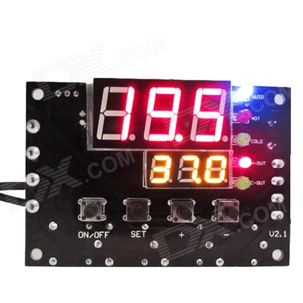 HF 0.56' +0.28' Dual Display Positive / Negative Switchable Thermostat - Black