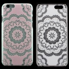 "Flower Pattern Protective PC Back Case for IPHONE 6 4.7"" - Transparent + Red"