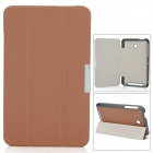 Ultra-Slim PU + Microfiber Case w/ Stand for Asus 175CG - Brown