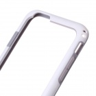 "Flexible Plastic Bumper Frame Case for IPHONE 6 4.7"" - White + Grey"