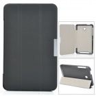Ultra-Slim PU + Microfiber Case w/ Stand for Asus 175CG - Black