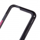 "Flexible Plastic Bumper Frame Case for IPHONE 6 4.7"" - Black + Deep Pink"
