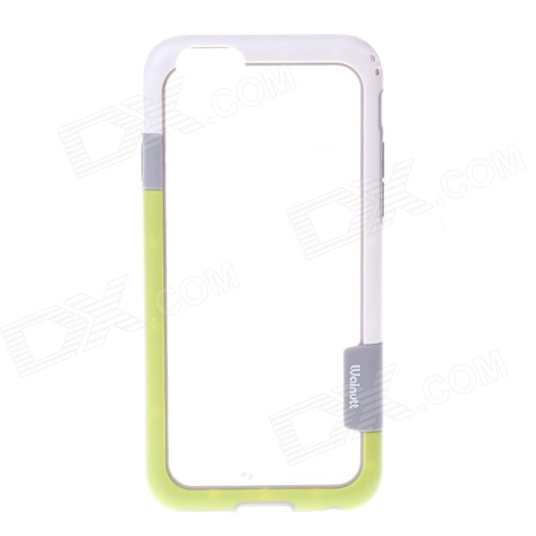 "Flexible Plastic Bumper Frame Case for IPHONE 6 4.7"" - White + Green"