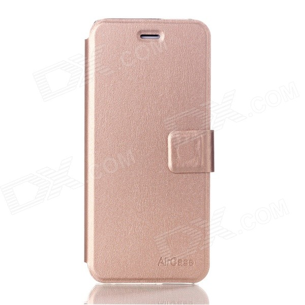 AIR CASE Flip Style TPU + PU Leather Protective Case Cover w/ Card Slot for IPHONE 6 4.7 - Golden metal chain handbag style pu tpu full body case w card slot for iphone 6 4 7 gold