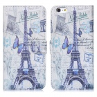 """ENKAY Tower Pattern Protective Case w/ Stand and Card Slots for IPHONE 6 4.7"""" - Multicolored"""