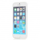 ROCK Ultra-Thin Double Color Protective TPU + PC Bumper Frame for iPhone 6 - White + Transparent