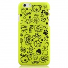 Hat-Prince Cartoon Print Protective Matte Non-slip Back Case for IPHONE 6 PLUS - Yellowish Green