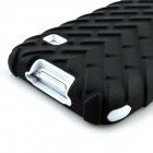 Tire Grain PC Protective Case for Samsung S5 G9006v - White + Black