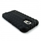 Tire Grain Pattern PC Protective Back Case for Samsung S5 G9006v - Black