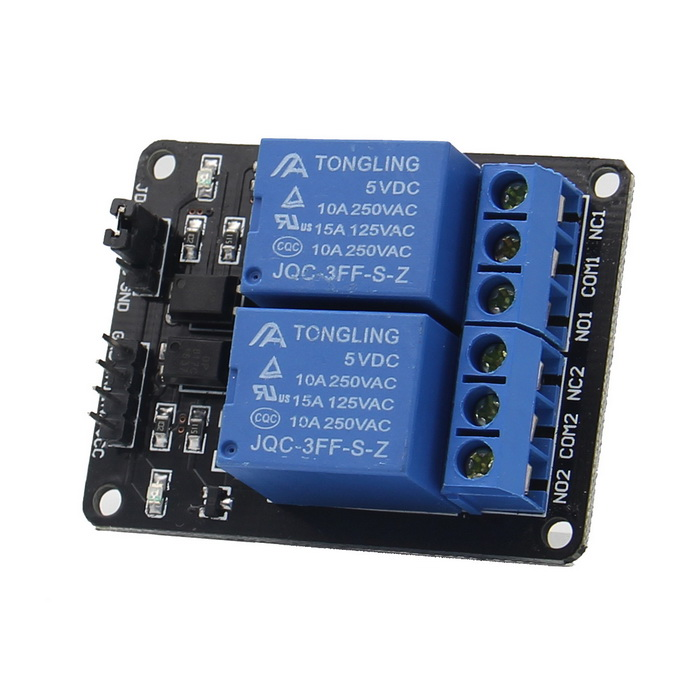 5V 10A 2-Channel Relay Module w/ Optical Coupling Protection Expansion Board for Arduino - Black new original afpx e14yr plc 2a relay 14 output points fp x expansion unit
