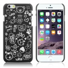 "ENKAY Cartoon Print Protective Matte Non-slip Case Back Cover for 4.7"" IPHONE 6 - Black"