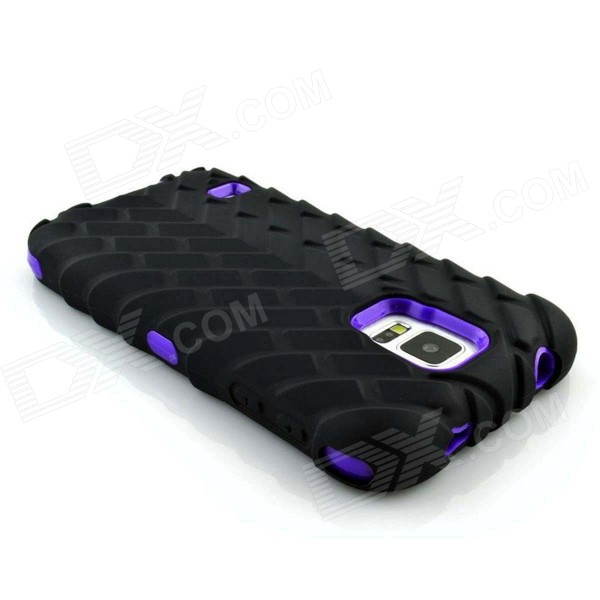 Tire Grain PC Protective Case for Samsung S5 G9006v - Purple + Black - DXPlastic Cases<br>Color Purple + Black Brand N/A Model N/A Material PC Quantity 1 Piece Shade Of Color Purple Compatible Models Samsung S5 / G9006v Packing List 1 x Case<br>